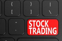 Opérations boursières sur le clavier noir Images stock