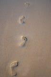 Opérations de pied dans le sable Photos libres de droits