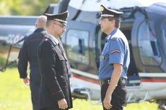 opérations de sécurité d'Anti-terrorisme en Italie photos stock
