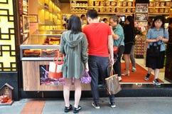Opóźnia z tradycyjnym suchym mięsnym jedzeniem w Macau Obraz Royalty Free