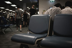 Opóźniający samolotu opóźnienia czas zdjęcia stock