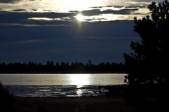 Opóźniający wschód słońca obraz stock