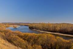 Opóźniona jesień przy obszarem trawiastym Obrazy Royalty Free