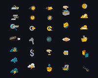 Opóźnione Nowożytne ikony dla stron internetowych i Apps fotografia stock