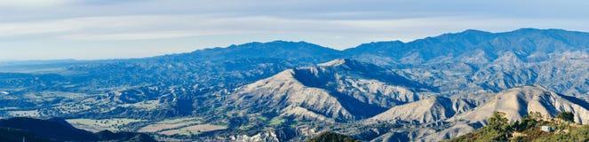 Opóźniony światło na Santa Ynez dolinie Obrazy Royalty Free