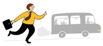 opóźniony pasażer royalty ilustracja