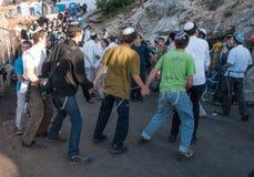 Opóźnienie BaOmer na górze Meron Fotografia Stock