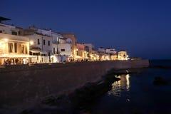 Opóźniony wieczór w Alghero, Sardinia zdjęcia stock