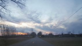 Opóźniony zima zmierzch w Wiejskim Michigan 2 Obrazy Stock