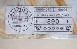 opłata pocztowa metr Węgry Obraz Stock