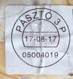 opłata pocztowa metr Węgry Fotografia Stock