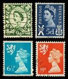 opłata pocztowa Scotland znaczki Obraz Royalty Free
