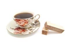 Opłatki i filiżanka herbata zdjęcia royalty free