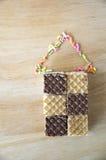 Opłatki i słodki cukieru dom zdjęcia stock