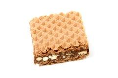 Opłatki z czekoladą na bielu obrazy stock