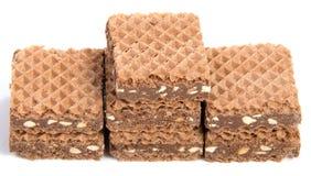 Opłatki z czekoladą na bielu obraz royalty free