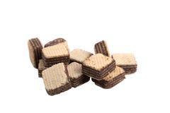 Opłatkowa czekolada odizolowywa na białym tle Fotografia Royalty Free