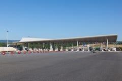 Opłaty drogowa brama na autostradzie w Francja Zdjęcie Stock