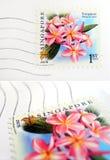 opłaty pocztowej Singapore pieczęć Fotografia Royalty Free