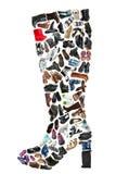 Op μπότα φιαγμένη από διάφορα παπούτσια στοκ φωτογραφίες
