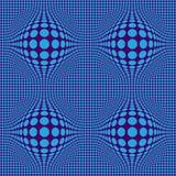 Искусство обмана зрения конспекта Op с голубыми точками на предпосылке Бордо бесплатная иллюстрация