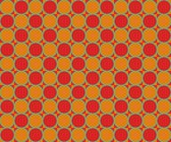 Op Art  Alternated Red and Yellow Circles Stock Photography