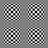Op Art Background. Optical art background in black and white. Will tile seamlessly for a psychedelic background Royalty Free Illustration