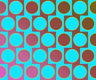 Op Art Big Circles Alternate Pattern Light Blue Stock Photos