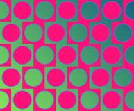 Op Art Big Circles Alternate Pattern Magenta Stock Photo