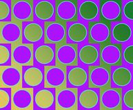 Op Art Big Circles Alternate Pattern Violet Royalty Free Stock Images