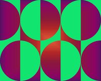 Op Art Big Circles Deep Red And Green Stock Images