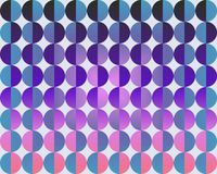 Op Art Big Circles By Half Blue Purple And Magenta Royalty Free Stock Image