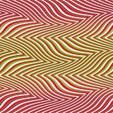 Op Art Big Waves Multiple Red And Green Seamless stock illustration