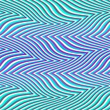Op Art Big Waves Multiple Violet And Blue Seamless Royalty Free Stock Photo