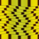 Op Art Big Waves Yellow And Dark Brown Seamless Stock Photos