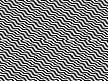 Op Art Black and White Horizontal Sine Waves Stock Photos