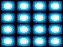 Op Art Blue Blobs Royalty Free Stock Photography