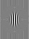 Op Art Bulging Vertical Stripes Black and White 1 Stock Image