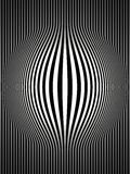 Op Art Bulging Vertical Stripes Black and White 2 Royalty Free Stock Image