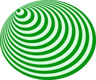 Op Art Bullseye Excentric Pale Green Deep Green Stock Photo