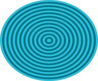 Op Art Bullseye Orange Blue Pale Blue Stock Image