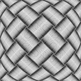 Op art checked pattern. Textured background. Royalty Free Stock Images