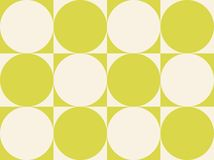 Op Art Circles On Squares Yellowish Green Stock Image