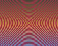 Op Art Concentric Ellipses Red And Yellow Royalty Free Stock Image