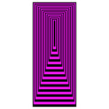 Op Art Concentric Rectangles Magenta Over Black Royalty Free Stock Photo