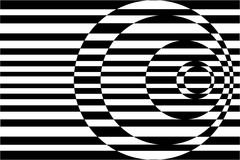 Op Art Contrasting Concentric Circles Black/White Royalty Free Stock Images