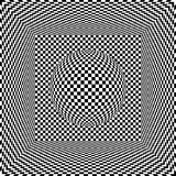 Op art cube and sphere vector illustration
