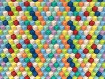 Op Art Cubes Pattern vector illustratie