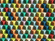 Op Art Cubes Pattern. 3D rendering Royalty Free Stock Photo