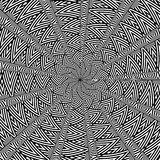 Op Art Deco. An op art pattern is featured in an abstract background illustration Stock Image